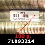 Réf. 71093214 100 grammes d\'argent pur - 5 Francs Semeuses (LSP)  Issu d un lot de 1000 Semeuses 5F - REVERS