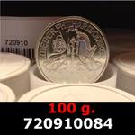 Réf. 720910084 100 grammes d\'argent pur - Philharmonique de Vienne (LSP)  Issu d un lot de 1000 pièces d une once - REVERS