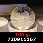 100 grammes d'argent pur - Philharmonique de Vienne (LSP)  Issu d un lot de 1000 pièces d une once
