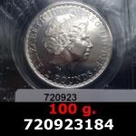 100 grammes d'argent pur - Britannia (LSP)  Issu d'un d'un lot de 1000 pièces d'une once