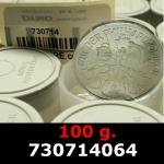 Réf. 730714064 100 grammes d\'argent pur - Philharmonique de Vienne (LSP)  Issu d un lot de 1000 pièces d une once - REVERS