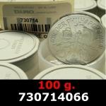 Réf. 730714066 100 grammes d\'argent pur - Philharmonique de Vienne (LSP)  Issu d un lot de 1000 pièces d une once - REVERS