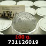 Réf. 731126019 100 grammes d\'argent pur - Philharmonique de Vienne (LSP)  Issu d un lot de 1000 pièces d une once - REVERS