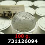 Réf. 731126094 100 grammes d\'argent pur - Philharmonique de Vienne (LSP)  Issu d un lot de 1000 pièces d une once - REVERS