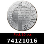 Lot 10 Vera Silver 1 once (LSP)  2014