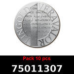 Réf. 75011307 Lot 10 Vera Silver 1 once (LSP)  2015 - REVERS