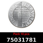 Réf. 75031781 Lot 10 Vera Silver 1 once (LSP)  2015 - REVERS