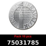 Réf. 75031785 Lot 10 Vera Silver 1 once (LSP)  2015 - REVERS