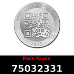 Réf. 75032331 Lot 10 Vera Silver 1 once (LSP)  2015 - REVERS
