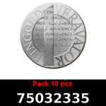 Réf. 75032335 Lot 10 Vera Silver 1 once (LSP)  2015 - REVERS