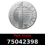 Réf. 75042398 Lot 10 Vera Silver 1 once (LSP)  2015 - REVERS