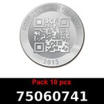 Réf. 75060741 Lot 10 Vera Silver 1 once (LSP)  2015 - REVERS