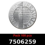 Lot 100 Vera Silver 1 once (LSP)  2015