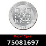 Réf. 75081697 Lot 10 Vera Silver 1 once (LSP)  2015 - REVERS