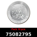 Réf. 75082795 Lot 10 Vera Silver 1 once (LSP)  2015 - REVERS
