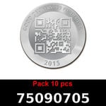 Réf. 75090705 Lot 10 Vera Silver 1 once (LSP)  2015 - REVERS