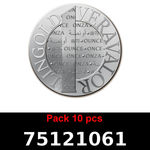 Réf. 75121061 Lot 10 Vera Silver 1 once (LSP)  2015 - REVERS