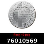 Réf. 76010569 Lot 10 Vera Silver 1 once (LSP)  2015 - REVERS