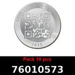 Réf. 76010573 Lot 10 Vera Silver 1 once (LSP)  2015 - REVERS