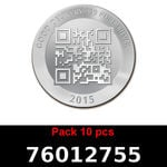 Réf. 76012755 Lot 10 Vera Silver 1 once (LSP)  2015 - REVERS