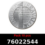 Réf. 76022544 Lot 10 Vera Silver 1 once (LSP)  2015 - REVERS