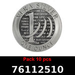 Réf. 76112510 Lot 10 Vera Silver 1 once (LSP)  2015 - 2eme type - REVERS
