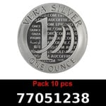 Lot 10 Vera Silver 1 once (LSP - 40MM)  2015 - 2eme type