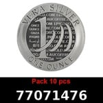 Réf. 77071476 Lot 10 Vera Silver 1 once (LSP)  2015 - 2eme type - REVERS