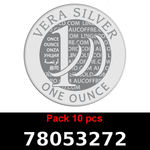 Réf. 78053272 Lot 10 Vera Silver 1 once (LSP)  2018 - REVERS