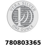 Réf. 780803365 Vera Silver 1 once (LSP)  2018 - REVERS