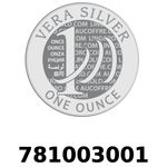 Réf. 781003001 Vera Silver 1 once (LSP)  2018 - REVERS