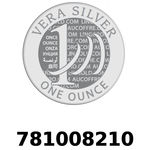 Réf. 781008210 Vera Silver 1 once (LSP)  2018 - REVERS