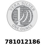 Réf. 781012186 Vera Silver 1 once (LSP)  2018 - REVERS