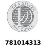 Réf. 781014313 Vera Silver 1 once (LSP)  2018 - REVERS