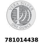 Réf. 781014438 Vera Silver 1 once (LSP)  2018 - REVERS