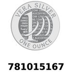 Réf. 781015167 Vera Silver 1 once (LSP)  2018 - REVERS