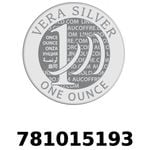 Réf. 781015193 Vera Silver 1 once (LSP)  2018 - REVERS