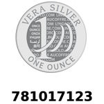 Réf. 781017123 Vera Silver 1 once (LSP)  2018 - REVERS