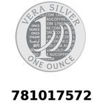 Réf. 781017572 Vera Silver 1 once (LSP)  2018 - REVERS