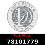 Réf. 78101779 Lot 10 Vera Silver 1 once (LSP)  2018 - REVERS