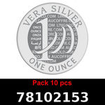 Réf. 78102153 Lot 10 Vera Silver 1 once (LSP)  2018 - REVERS