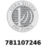 Réf. 781107246 Vera Silver 1 once (LSP)  2018 - REVERS
