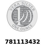 Réf. 781113432 Vera Silver 1 once (LSP)  2018 - REVERS