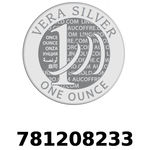 Réf. 781208233 Vera Silver 1 once (LSP)  2018 - REVERS