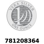 Réf. 781208364 Vera Silver 1 once (LSP)  2018 - REVERS