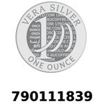 Réf. 790111839 Vera Silver 1 once (LSP)  2018 - REVERS
