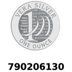 Réf. 790206130 Vera Silver 1 once (LSP)  2018 - REVERS