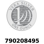 Réf. 790208495 Vera Silver 1 once (LSP)  2018 - REVERS