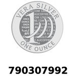 Réf. 790307992 Vera Silver 1 once (LSP)  2018 - REVERS