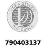 Réf. 790403137 Vera Silver 1 once (LSP)  2018 - REVERS